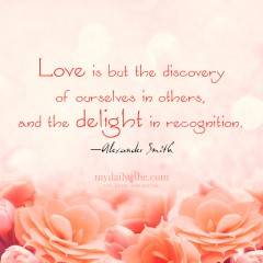 Love is but the Discovery by Alexander Smith