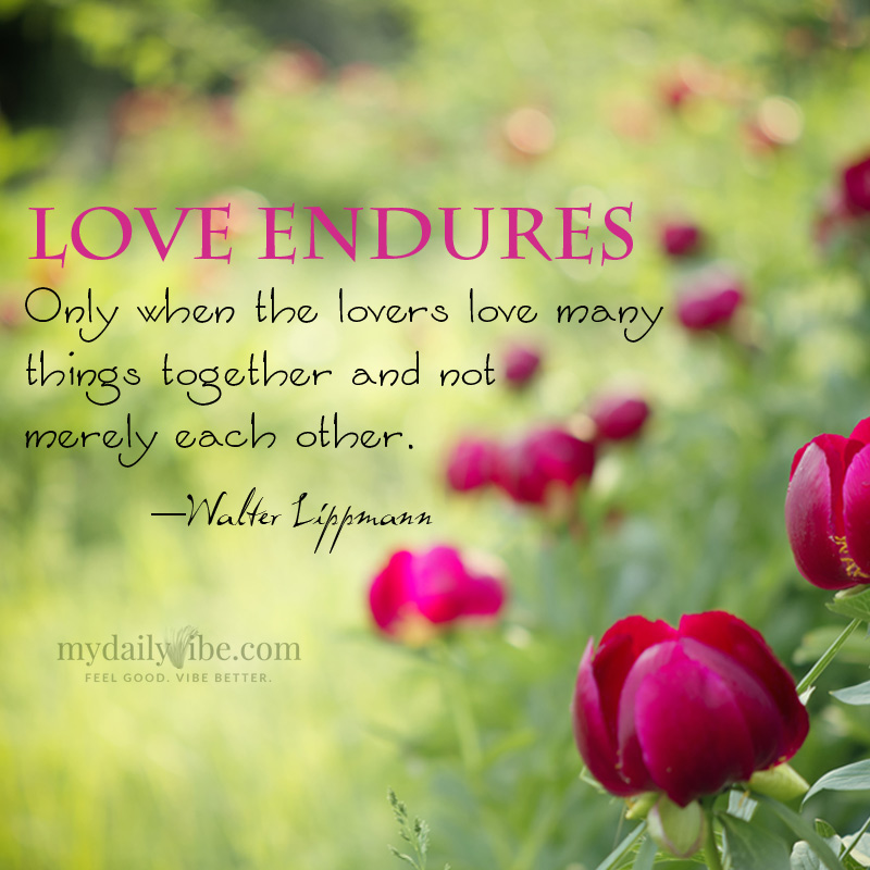 Love Endures by Walter Lippmann