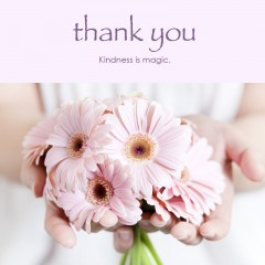Thank You e-card: Kindness is magic — FREE