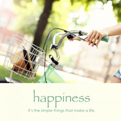 Happiness e-card: It's simple things that make a life — $1.95