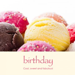 Birthday e-card: Cool, sweet and fabulous! — $1.95