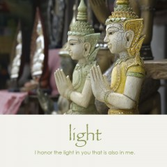 Light e-card: I honor the light in you that is also in me — $1.95