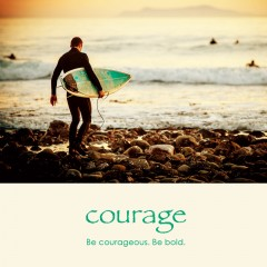 Courage e-card: Be courageous. Be bold. — $1.95