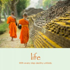 Life e-card: With every step destiny unfolds — $1.95