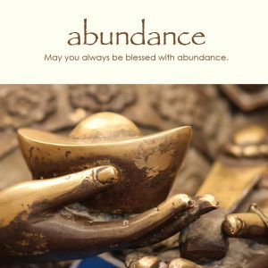 Abundance e-card: May you always be blessed with abundance — $1.95