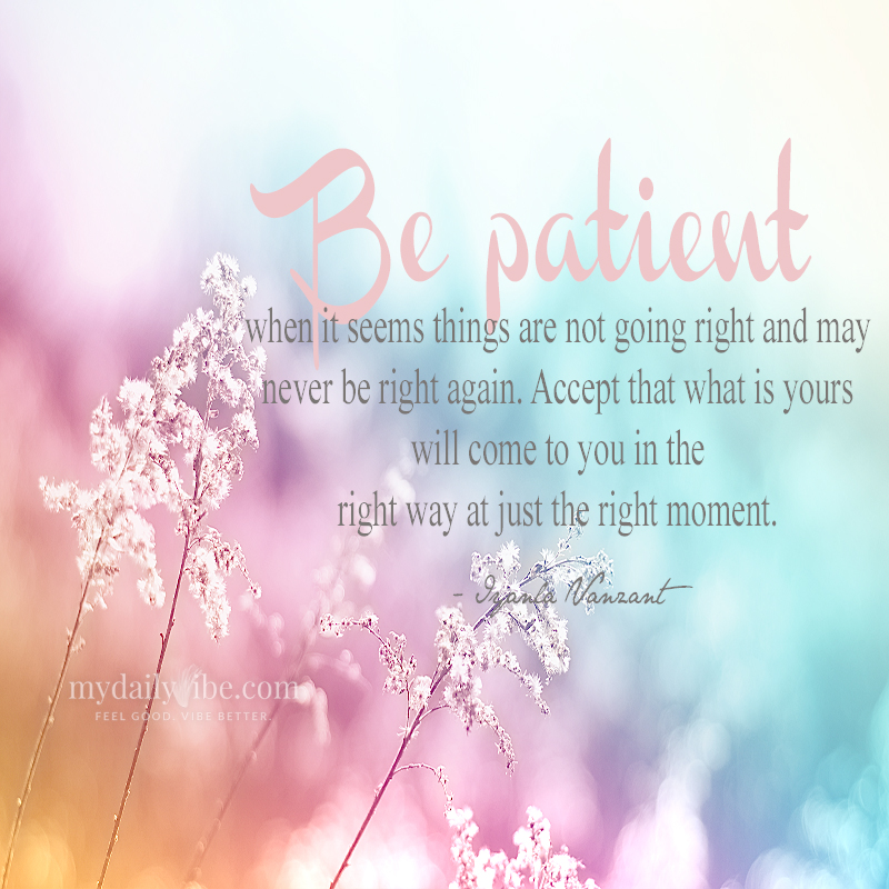 Be Patient by Iyanla Vanzant