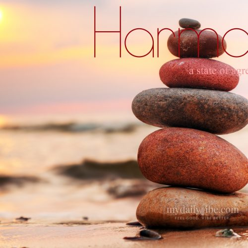 Harmony – state of wholeness, peace