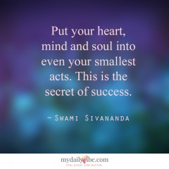 Put Your Heart by Swami Sivananda