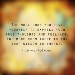 The More Room You Give by Marianne Williamson