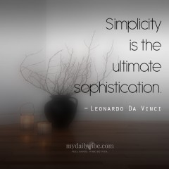Simplicity by Leonardo Da Vinci