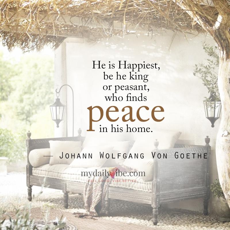 He Is Happiest by Johann Wolfgang Von Goethe