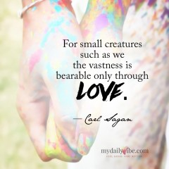 For Small Creatures by Carl Sagan