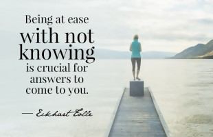Being At Ease by Eckhart Tolle